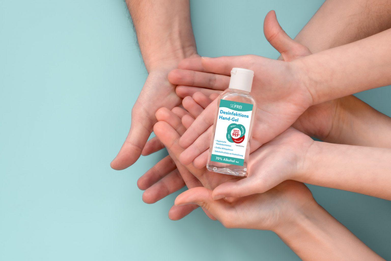 SEIFREI Händedesinfektion Sicher Freiheit genießen